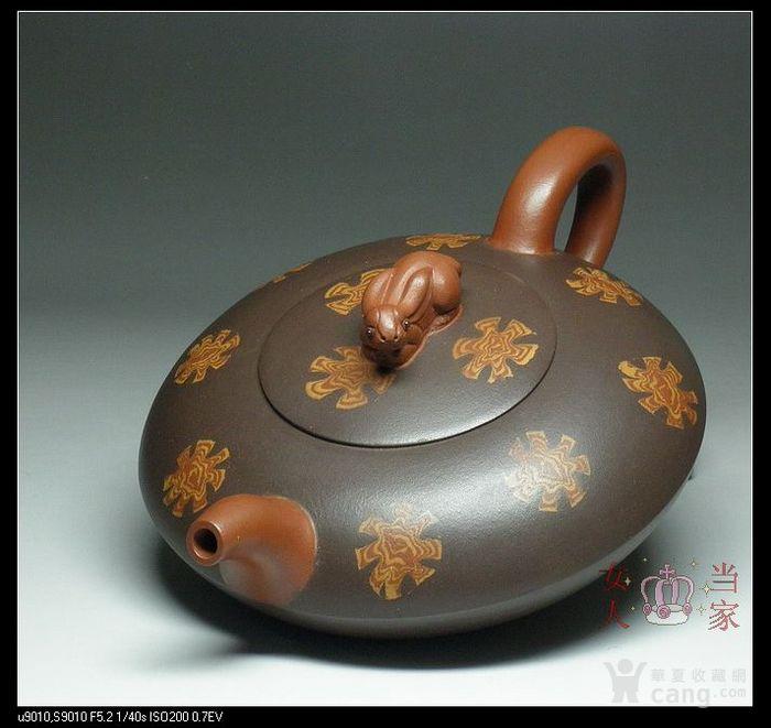 紫砂壶*国家级刘建明*收藏增值原矿紫泥*雪花兔子300cc