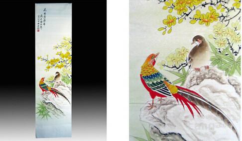 中国花鸟四条屏