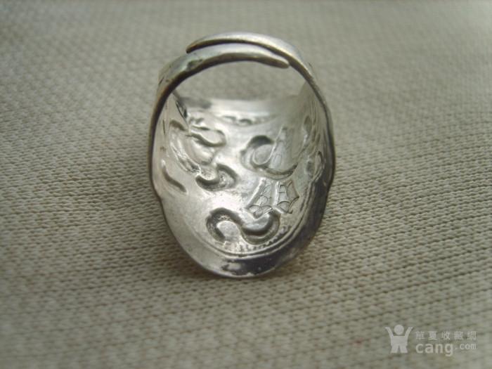 清代大型八仙过海银戒指一枚