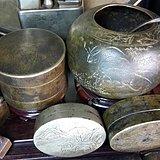 ◆◆文房可心把玩佳器:民国诗文兰草铜水盂◆