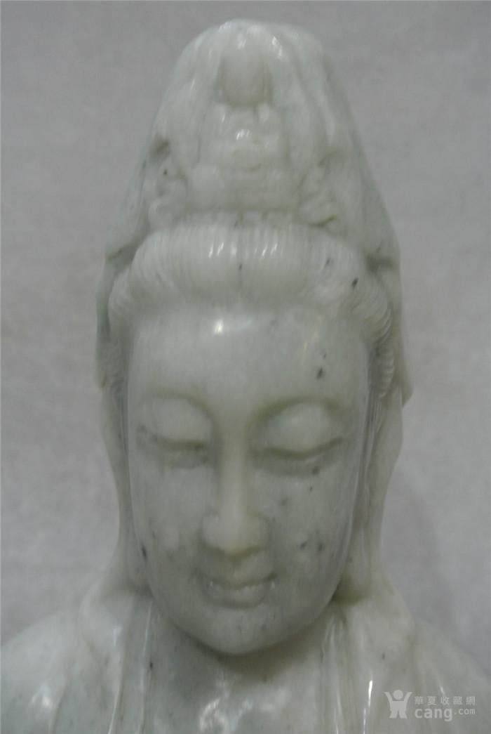 传世翡翠雕刻观音坐像