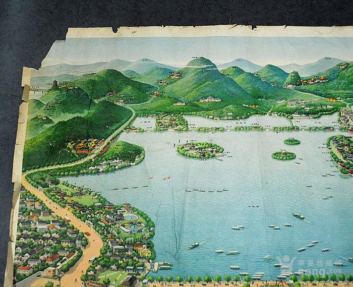 杭州西湖手绘图_西湖十景手绘简图