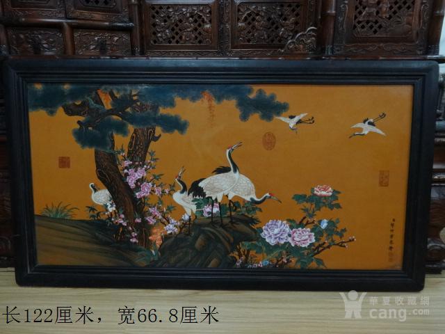传世【松鹤延年】瓷板