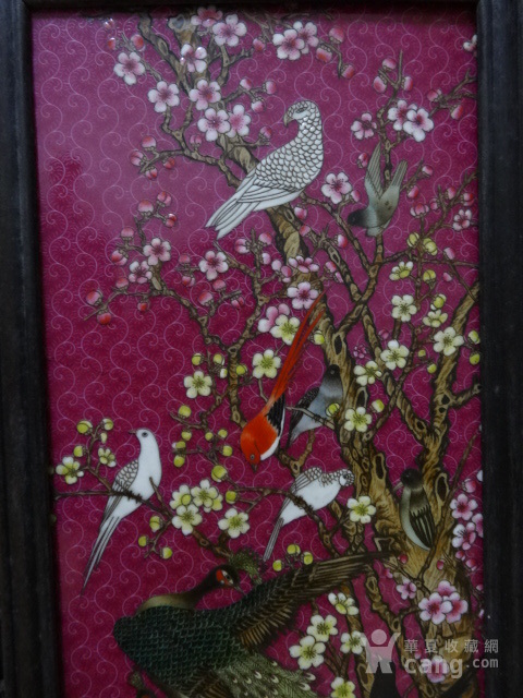 传世花鸟瓷板四条屏