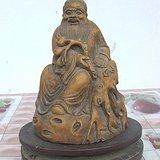 清代竹根雕道教神仙人物东方朔坐像保真包老竹雕摆件人物