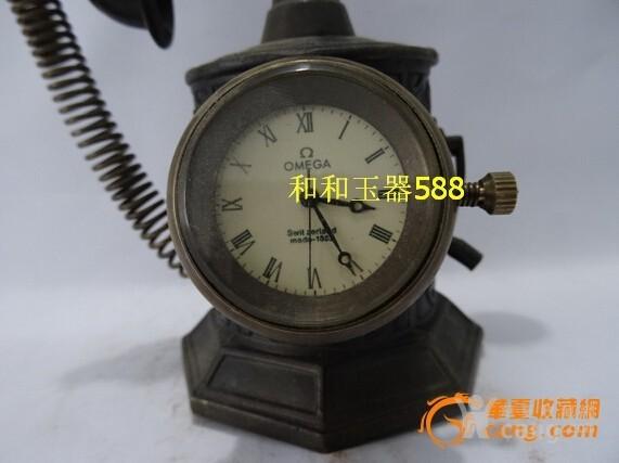 民国欧米茄电话机械小座钟图片