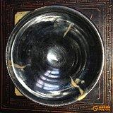 宋元黑釉挂红碗