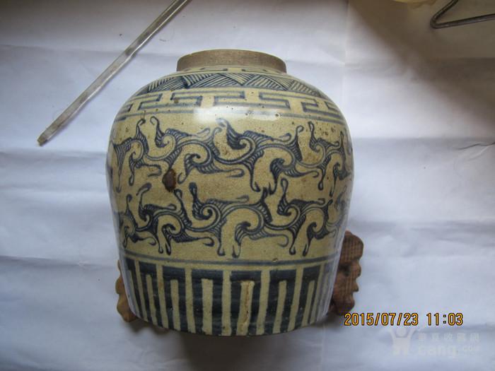元代青花罐