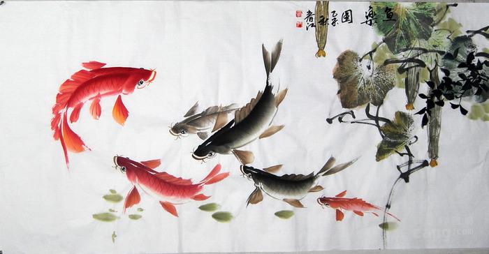 李春江写意花鸟画 鸿运当头 纯手绘正品图片