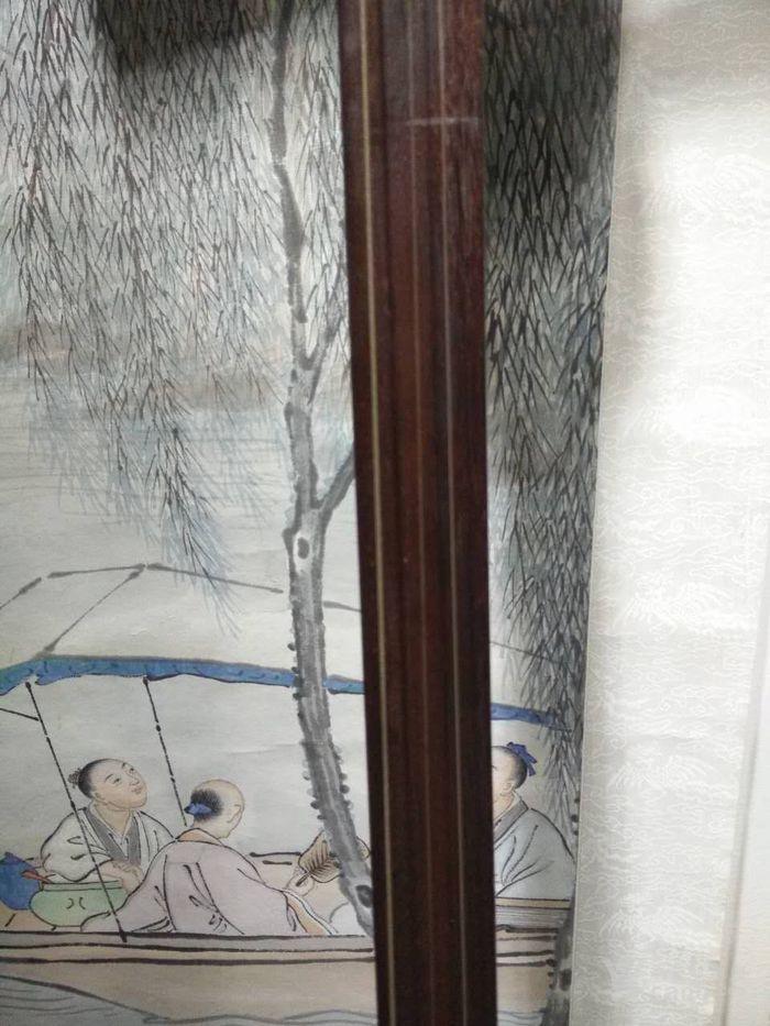 清代 老红木材质黄杨轴柄大蟒蛇*三弦老古琴