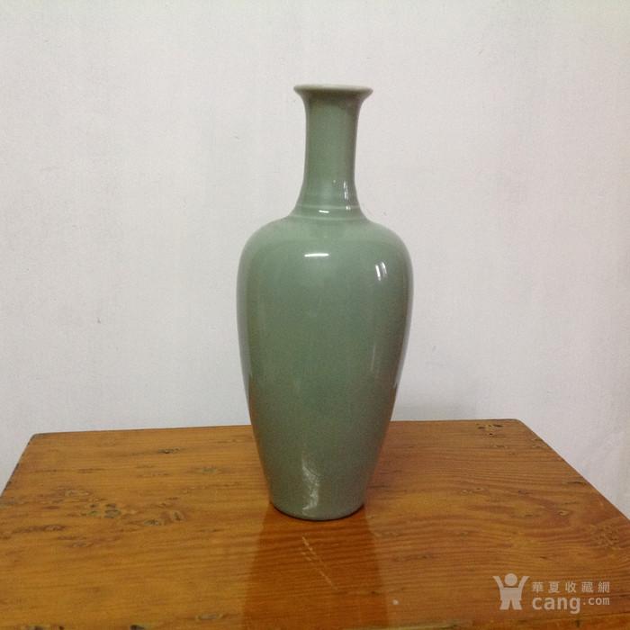 冬青釉 柳叶瓶图片