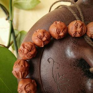 野生小桃核手串,纯手工雕刻的十八罗汉,火龙纹,招代理