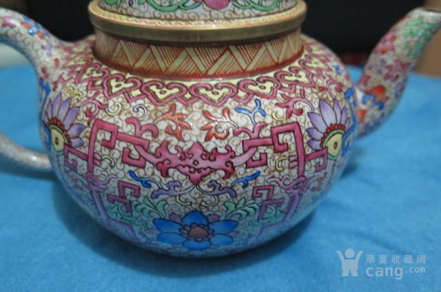 花卉珐琅彩紫砂壶