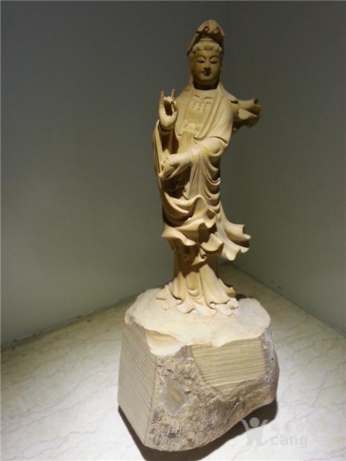 黄杨木雕:非常漂亮的南海观音