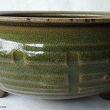 宋-精美绿釉三足香炉