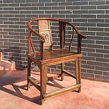 气质[色]清中期苏作榉木圈椅!