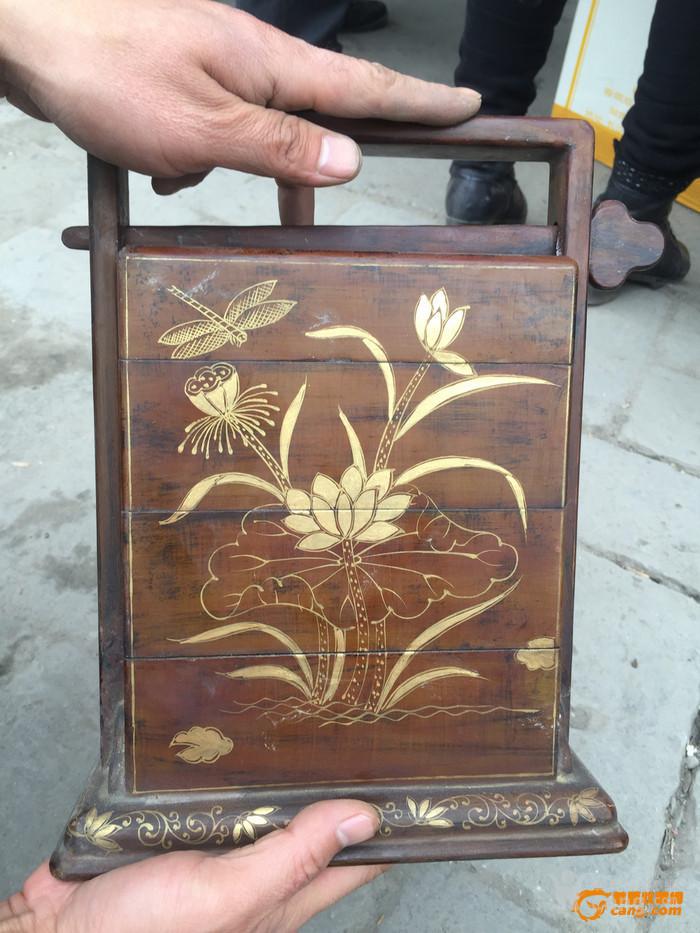 清代老木箱 花梨木漆器 花纹精美 不议价