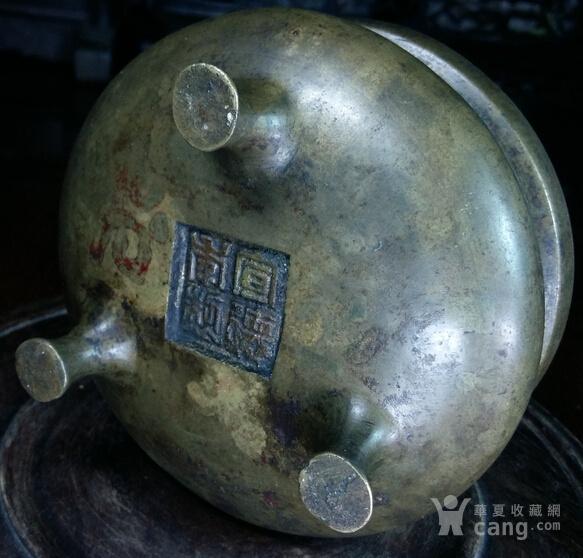 ===原装成套厚较厚重清晚铜香炉