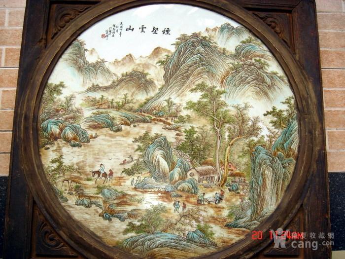民国名家张志汤作品瓷板画 原汁原味 ,名家精品图1