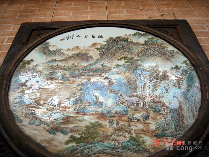 民国名家张志汤作品瓷板画 原汁原味 ,名家精品图5