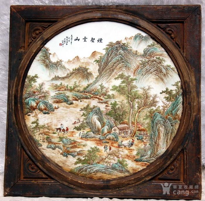 民国名家张志汤作品瓷板画 原汁原味 ,名家精品图8