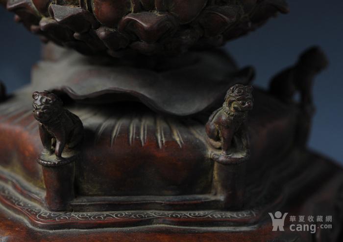 清代紫斑铜释迦摩尼造像