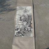 原装裱著名书画家甘肃省画院院长(康金城)绘画的山水人物作品