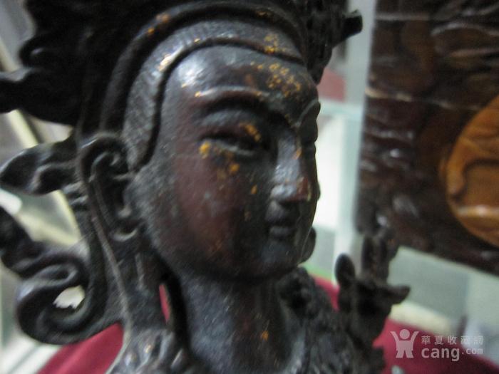 清--铜制文殊菩萨造像