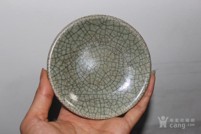 清三代金丝铁线哥釉盘垫图1