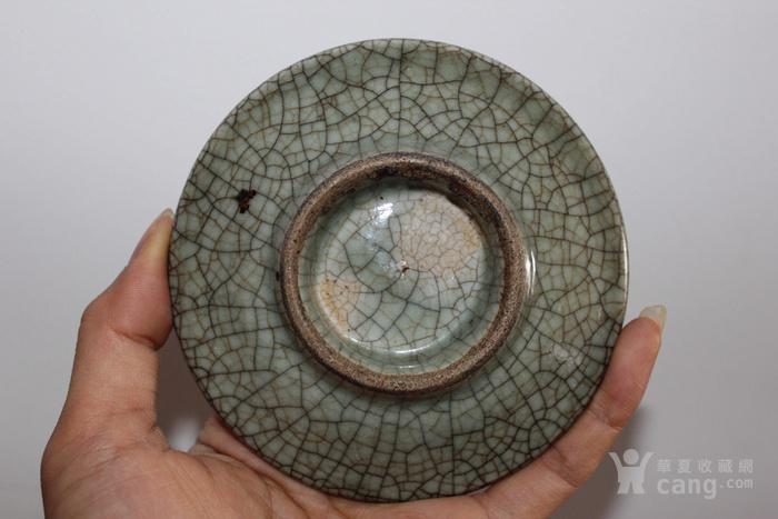 清三代金丝铁线哥釉盘垫图2