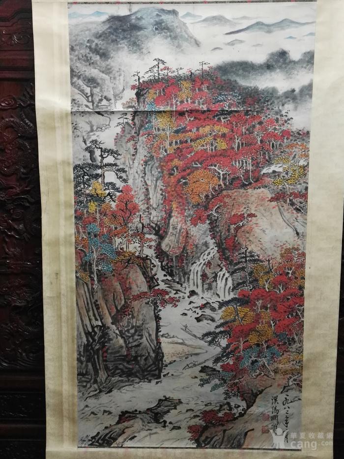 著名画家关山月六尺大幅山水中堂图片