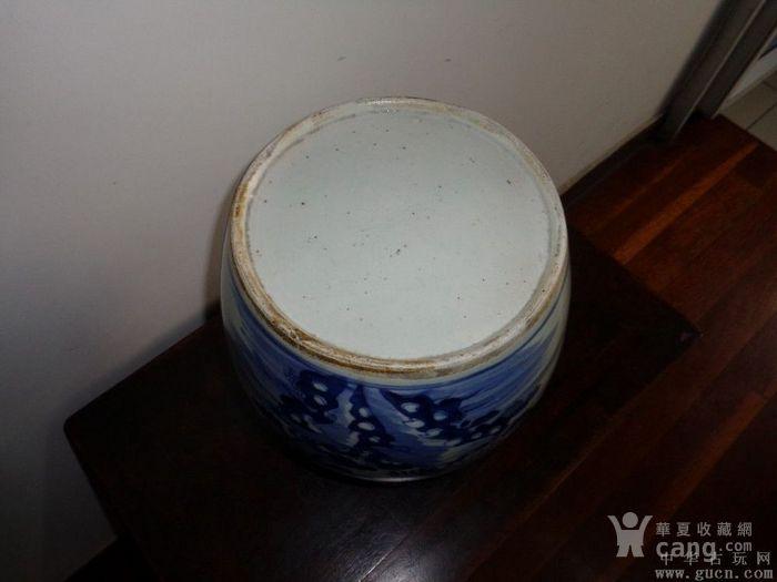 清青花万寿菊大罐