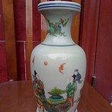 喇叭花瓷瓶带款_花瓶花器花插特价牵牛花时尚绚丽紫色系玻