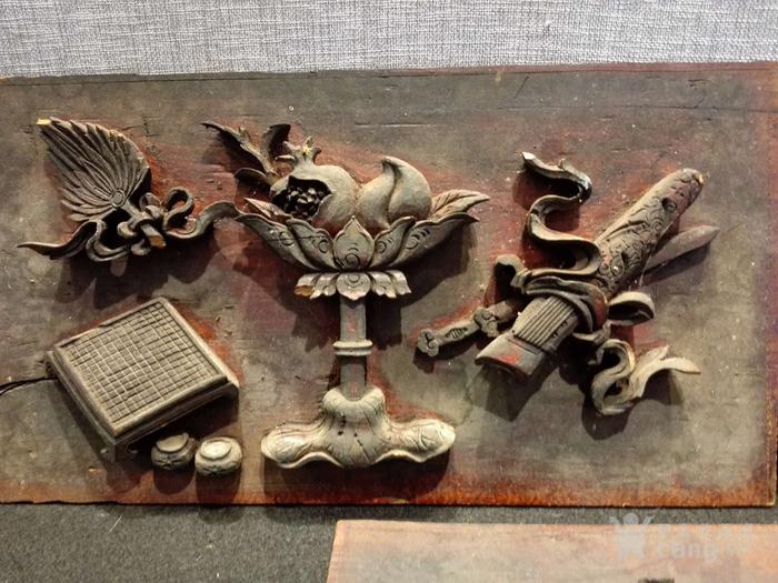 八宝三片    木雕.花板