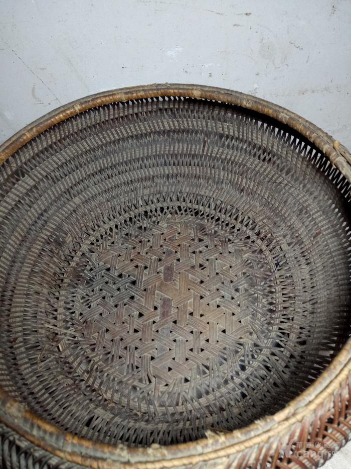 民国手工编竹篮
