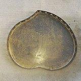 带精美雕刻的老铜大茶盘