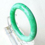 缅甸天然A货翡翠~满绿圆条手镯