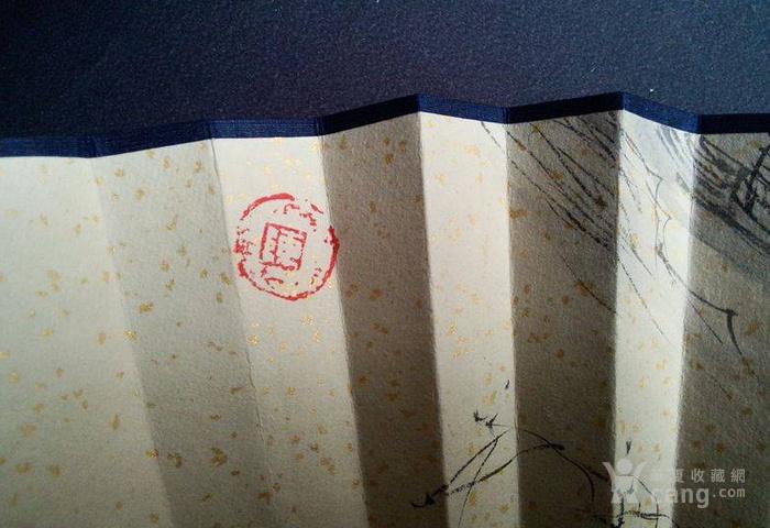 陈玉圃2006年绘成扇――溪山渔隐图