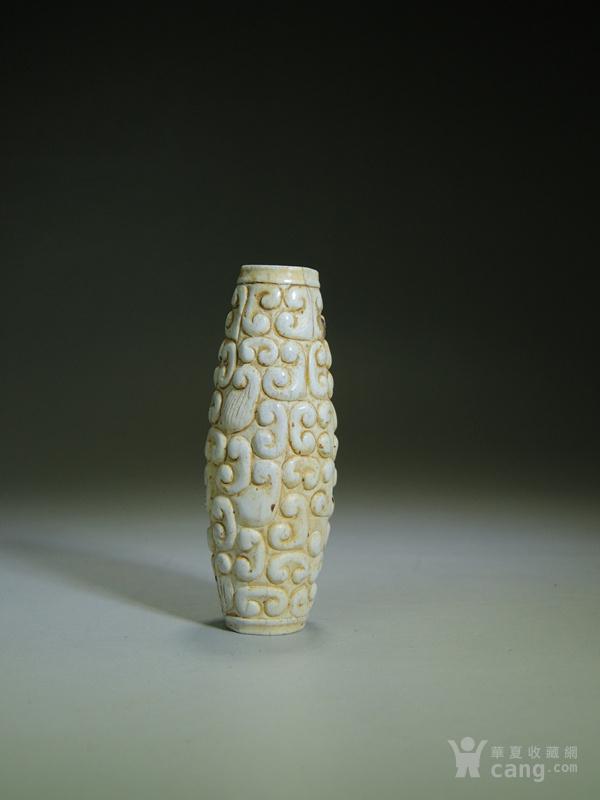 鸡骨白玉器,春秋战国蟠虺纹玉勒子_鸡骨白玉器