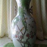 民国:粉彩柳树黄莺150件大瓶