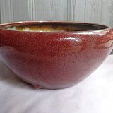 清代祭红釉香炉