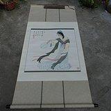 著名书画家艺人(*生)[夏雨之父]绘画的人物仕女图
