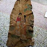 清代传世一幅名人人物鹿皮画