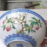 80年代出自名家手笔的玲珑明画暗刻画薄胎碗