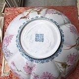 80年代出自工艺师们绘画的大号薄胎碗