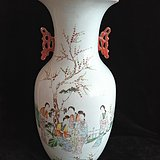 老瓷器  一百五十涧人物花瓶  保老保真居室摆件