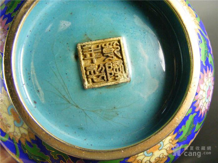 亚洲色固%nK��Y_几十年的寄托乾隆款铜胎景泰蓝万夀无疆宝相花大宫碗摆件(实价)