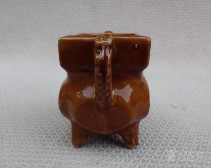 全品八九十年代(一炷香)黄釉小炉