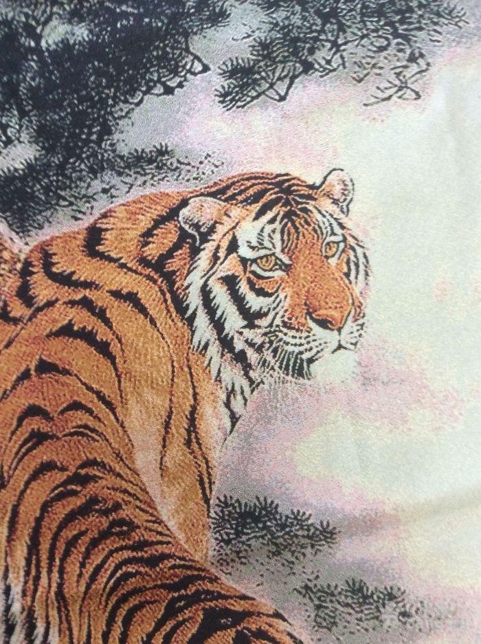 动物风景画 老虎 刺绣