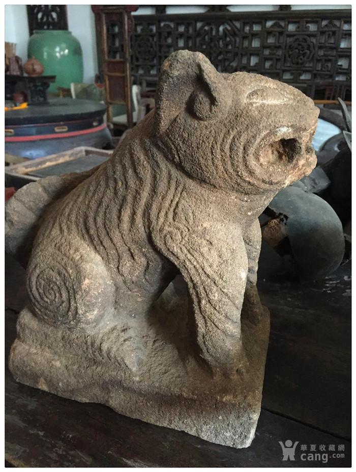 h-2898#石虎/石雕/红砂石/石器/古董/旧货